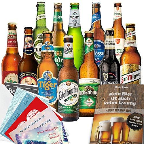 12 Biersorten aus aller Welt und Deutschland
