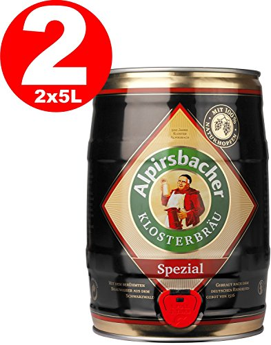 2 x Alpirsbacher Spezial 5,2% vol. 5 Liter Partyfass
