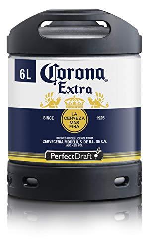Bier PerfectDraft 1 x 6-Liter Fass Corona Extra Bier - Lager. Zapfanlage für Zuhause. Inklusive 5euros Pfand.